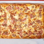Sheet 30 slice breakfast pizza