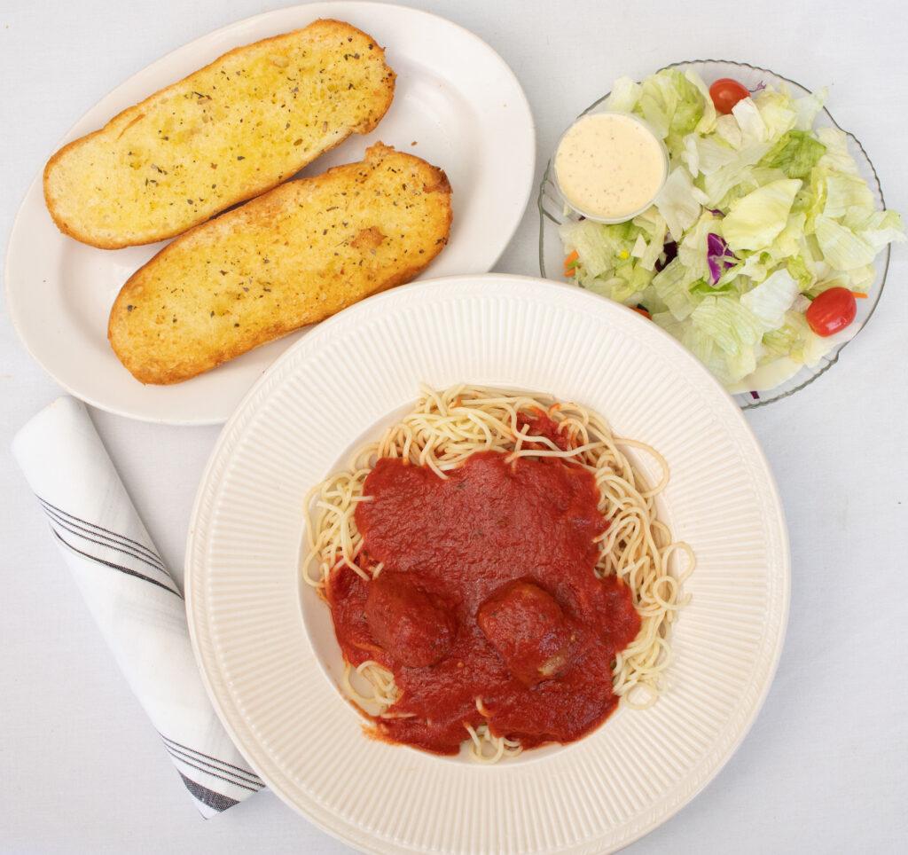 spaghetti pasta dinner